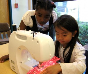 Kids learning to sew in Madison Wisconsin
